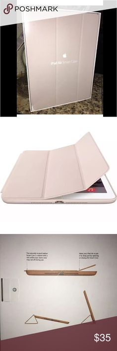 Apple iPad Air smart case New in original box -genuine apple iPad Air smart case . Powers up when Case front flap opens apple Accessories Tablet Cases