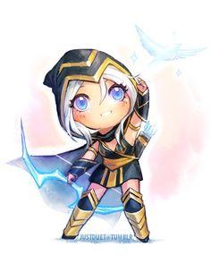 league of legends chibi ashe :3