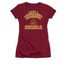 Star Trek Starfleet Academy Xenolinguistics Red Juniors T-Shirt