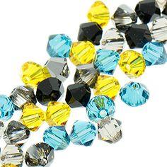 5328 4mm Swarovski Elements Crystal Mix - Starry Night | Fusion Beads