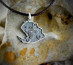 Sterling silver pendant of Isle of Youth de Dcastjoyas en Etsy