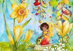 DIY Full Drill Square or Round Diamond Painting Cross Stitch Diamond Embroidery Fairy Fantasy Rhi Bedtime Meditation, Meditation Music, Diamond Picture, Diamond Drawing, Rare Flowers, Beautiful Fairies, Cross Paintings, Daffodils, Ladybug