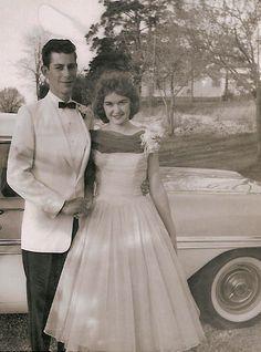 Tallmadge High School Prom -- 1958 -- Chuck and Brenda.