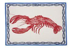 Lobster Sketch Tea Towel design by Thomas Paul