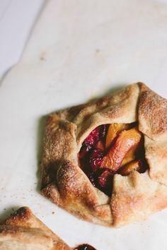 Peach & Cherry Galettes | The Vanilla Bean Blog