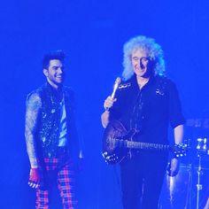 「Queen and Adam Lambert in Sheffield. #AdamLambert #Queen #QAL #QALSheffield」@cageybaby instagram.com/p/zrqiQWC5It/