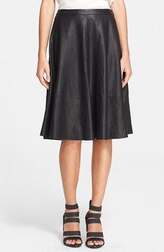leather midi skirt from @nordstrom #nordstrom