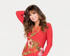 Marie Osmond Hot, Osmond Family, The Osmonds, Love My Family, Cindy Crawford, Floral Tops, Pin Up, High Neck Dress, Beautiful Women