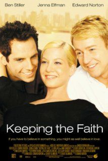 High resolution official theatrical movie poster for Keeping the Faith Image dimensions: 1000 x Directed by Edward Norton. Starring Ben Stiller, Edward Norton, Jenna Elfman, Anne Bancroft Jenna Elfman, Edward Norton, Streaming Movies, Hd Movies, Movies To Watch, Movies And Tv Shows, Movies 2019, Hd Streaming, Comedy Movies