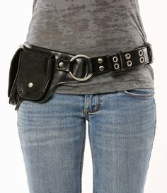 Hitchhiker Hip Pack Utility Belt - Black Chrome | Warrior Creek - Unique Fashion Accessories
