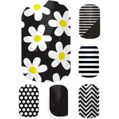 """""""Jamberry combos - Simply Daisy. Loves this combo.  To achieve this look, order at joies.jamberrynails.net"""