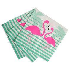 Show details for Flamingo & palms lunch napkins