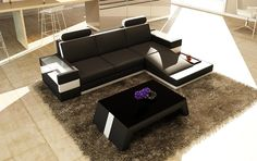 Divani Casa 5100B Modern Bonded Leather Sectional Sofa