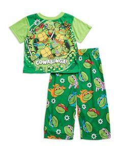 Ame Sleepwear Two-Piece TMNT Pajama Set  Green 2T