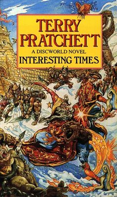 Terry Pratchett: Interesting Times - Cover art by Josh Kirby Fantasy Book Covers, Book Cover Art, Fantasy Books, I Love Books, Books To Read, My Books, Discworld Books, Terry Pratchett Discworld, Story Titles