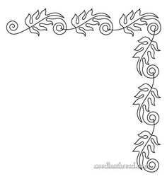 #3 of 3 Continuous line leaves embroidery design, ideal for tambour stitiching. Free Hand Embroidery Pattern - Fall Leaves. Mary Corbet, Needle 'n thread blog