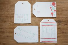 Free Holiday Gift Tags | Hey Love Designs