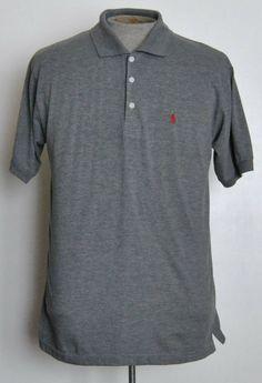 Ralph Lauren Polo Shirt XL Boys Solid Gray 100% Cotton Short Sleeve #RalphLaurenPolo #Everyday free shipping Buy Now  $14.99