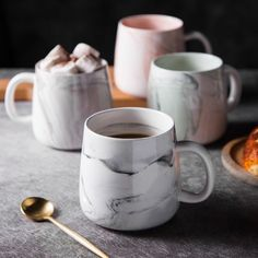 Order a set of Marble Coffee Mugs for your home or office. Shop for bone china coffee mugs in assorted styles at the Apollo Box. Coffee Mug Quotes, Coffee Facts, Unique Coffee Mugs, Coffee Mug Sets, Great Coffee, Funny Coffee Mugs, Mugs Set, Coffee Drinks, Chemex Coffee