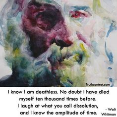 "~ Walt Whitman on ""Death"""