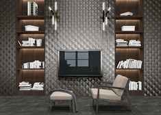 Carreau feuilles anthracites brillantes 30x30 SCALE SHELL ANTHRACITE - 0.85m² Brick Look Tile, Concrete Look Tile, Marble Look Tile, Stone Look Tile, Local Builders, Vitrified Tiles, Tile Showroom, Traditional Tile, Palette