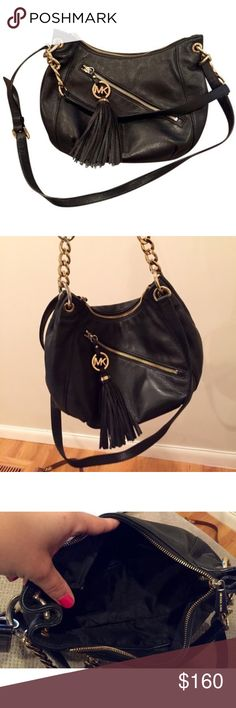 Michael Kors Charm Tassel Convertible Shoulder Bag EUC authentic MK convertible bag. No signs of wear. Michael Kors Bags Shoulder Bags