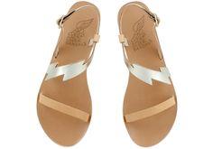"""""""Fotini"""" sandals in natural/platinum, Ancient Greek, size 38"""