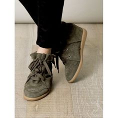 Outlet Sale Isabel Marant Bobby Suede Wedge Sneakers Shoes