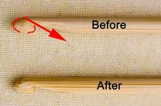 Learn the Art of Cro-Tatting for Free - Adjusting your hook for Crotat................MAKE HOOK FROM A BAMBOO SKEWER