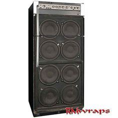Amplifier speaker Refrigerator wrap, Man cave idea, Sticker, black, Music