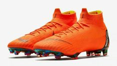 The Mercurial Soccer Cleat by Nike has become synonymous with The World Cup For the pro-players speed and ground firmness have been enhanced. Nike Football Boots, Nike Boots, Soccer Boots, Nike Soccer, Football Cleats, Football Fans, Soccer Art, Nike Cleats, Superfly