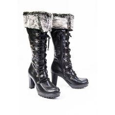 Dámske čižmy z prírodnej kože čierne na opätku - manozo.hu Combat Boots, Shoes, Fashion, Moda, Zapatos, Shoes Outlet, Fashion Styles, Shoe, Footwear