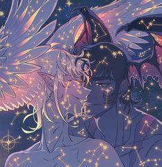 Akira/Devilman and Satan! Manga Anime, Fanarts Anime, Anime Characters, Anime Art, Devilman Crybaby, Cry Baby, Shonen Ai, Crying Man, Another Anime