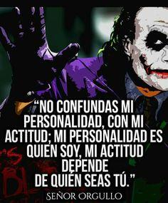 Joker Frases, Joker Quotes, Joker And Harley, Harley Quinn, Heath Ledger Joker, Quotes En Espanol, Daddy Yankee, Spanish Quotes, Dc Comics