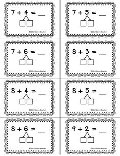 Make a Ten Strategy plastificeren en dan met marker oefenen Math Classroom, Kindergarten Math, Teaching Math, Addition Strategies, Math Strategies, Eureka Math, Singapore Math, Math Work, Math Intervention