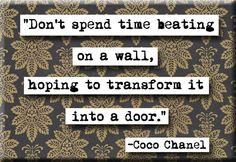 Coco Chanel Quote Magnet  or Pocket Mirror (no.169). $4.00, via Etsy.