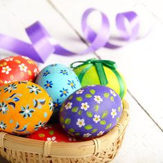 Buy Rustic style painted easter eggs in basket on white table by e_mikh on PhotoDune. Rustic style painted easter eggs in basket on white table Diy Craft Projects, Egg Rock, Easter Wallpaper, Pebble Painting, Painting Eggs, Art And Hobby, Chicken Painting, Easter Egg Designs, Egg Art