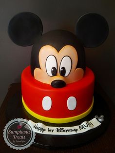 Mickey Mouse Cake ~ Custom-Made-To-Order Cakes, Cookies & Cupcakes Edible Art ~ www.sumptuoustreats.com