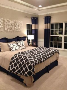 Navy And White Bedroom Ideas 220754
