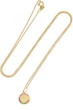 Andrea Fohrman - Full Moon 18-karat Gold Multi-stone Necklace - one size