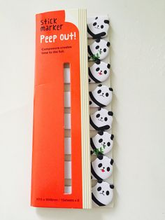 Panda Sticky Note Flags by GoatGirlMH on Etsy