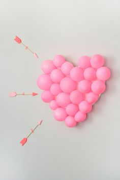 Here's part two of our Valentine's Day Carnival: heart-shaped balloon pop! This game is super simple to make and you barely need any supplies.