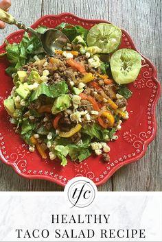 Mouth-Watering Taco Salad Recipe | Healthy Taco Salad | Healthy Lunch or Dinner Idea |