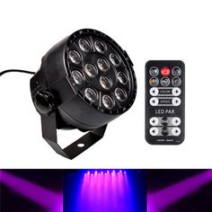 12W 12PCS LED UV Black Lights DMX512 Sound&IR-Remote Control Stage Light for Wedding Party Christmas