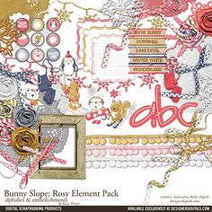 Bunny+Slope:+Rosy+Element+Pack
