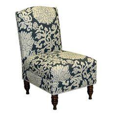 Skyline Furniture Nail Button Armless Chair Athens Smoke $317