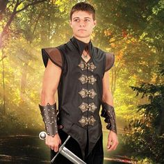 Elizabethan Renaissance Leather Vest Rory's costume for the Medieval Festival