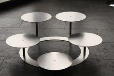 Support à gâteaux 3 étages en aluminium tortenetagere pièce rond, diamètre :  30 cm
