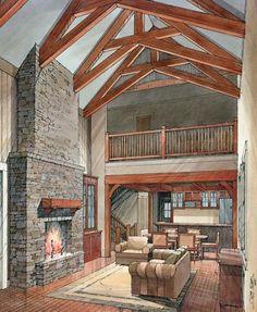 Pen and Watercolor Art - Interior Design Renderings