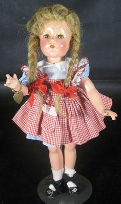 Vintage 1940's Effanbee Suzanne Composition Doll All Original w Bracelet